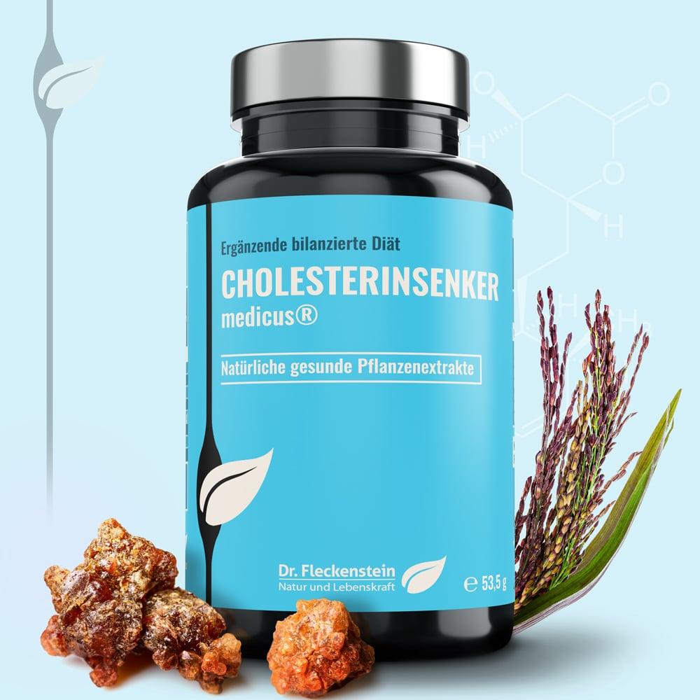 Cholesterinsenker medicus von Dr. Fleckenstein. Natürlich gesunde Pflanzenextrakte.