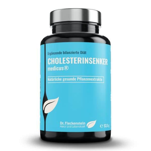 Cholesterinsenker medicus von Dr. Fleckenstein. Natürlich gesunde Pflanzenextrakte..