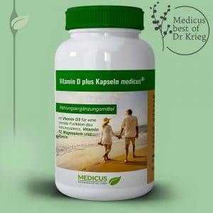 Produktansicht: D plus Kapseln medicus von Dr. Fleckenstein.