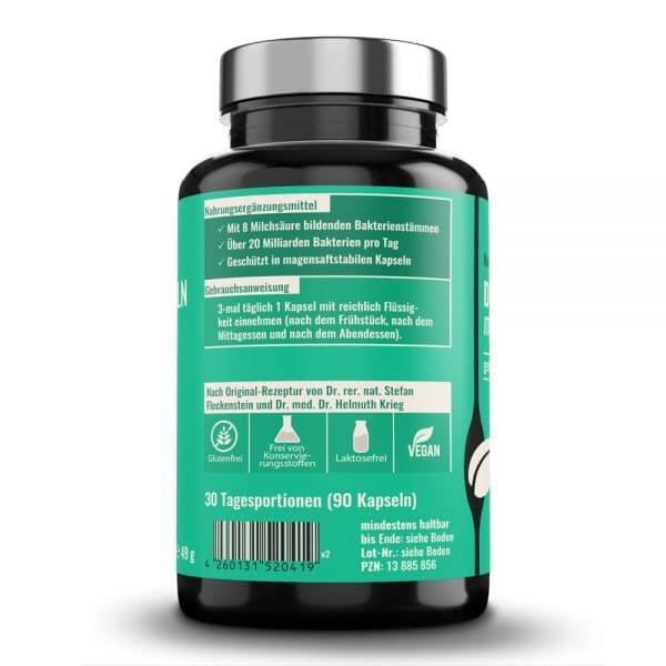 Darmflorakapseln medicus von Dr. Fleckenstein. Natürlich gesunde Pflanzenextrakte. Produktbeschreibung und Verzehrempfehlung.