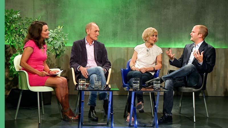 Dr-Stefan-Dr Stefan Fleckenstein und Dr Helmuth Krieg in Fernsehsendung