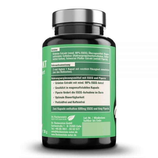 GRUENTEE-EXTRAKT medicus® hochkonzentriert von Dr. Fleckenstein. Antientzuendlich – antioxidativ. Zutaten und Zusammensetzung.