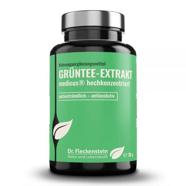 Produktansicht: GRUENTEE-EXTRAKT medicus® hochkonzentriert von Dr. Fleckenstein. Antientzuendlich – antioxidativ.