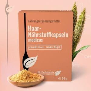 Haar-Nährstoffkapseln medicus von Dr. Fleckenstein. Gesunde Haare - schoene Naegel.