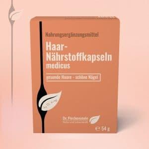 Haar-Naehrstoffkapseln medicus von Dr. Fleckenstein. Gesunde Haare - schoene Naegel.