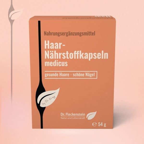 Produktansicht: Haar-Naehrstoffkapseln medicus von Dr. Fleckenstein. Gesunde Haare - schoene Naegel.