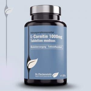L-Carnitin 1000mg Tabletten medicus von Dr. Fleckenstein. Muskelversorgung - Fettstoffwechsel.