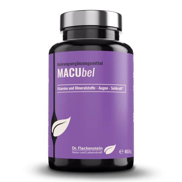 Produktansicht: MACUbel AUGENKAPSELN von Dr. Fleckenstein. Gute Sehkraft-gesundes Sehvermögen.
