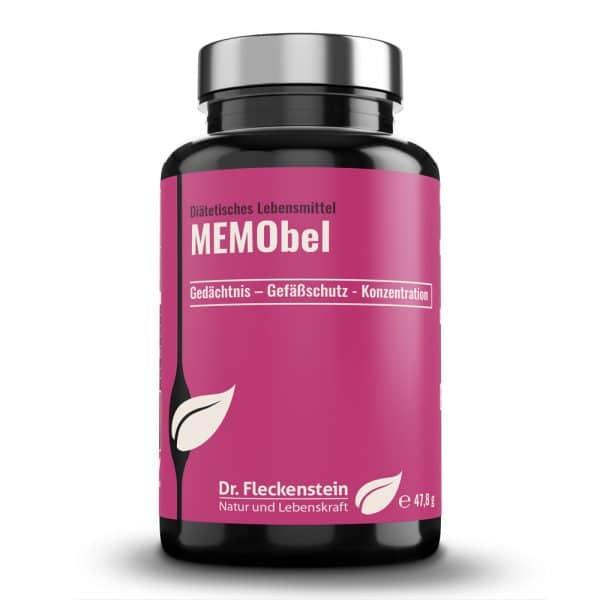 Produktansicht: MEMObel von Dr. Fleckenstein. Gedächtnis – Gefäßschutz - Konzentration.