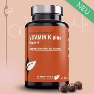Vitamin K plus von Dr. Fleckenstein. Normale Blutgerinnung – normale Knochen.