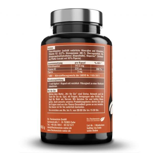 Vitamin K plus Kapseln - Zutaten und Zusammensetzung.